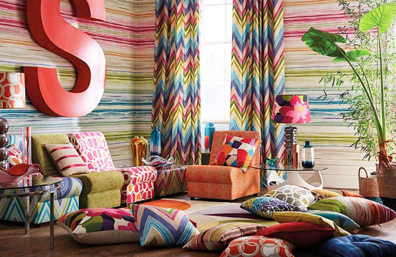 Decorar con telas revista deck - Decorar muebles con tela ...