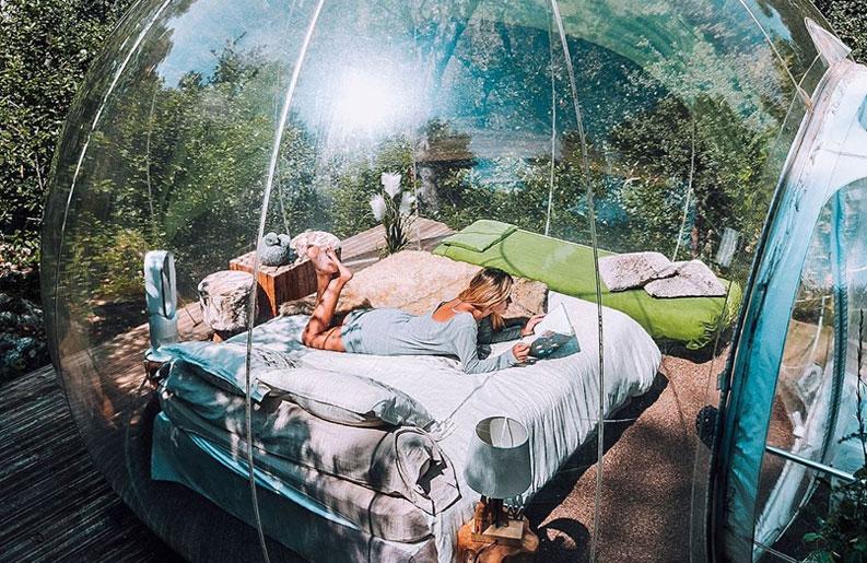 <b>Glamping.</b> La experiencia de acampar rodeado de lujo