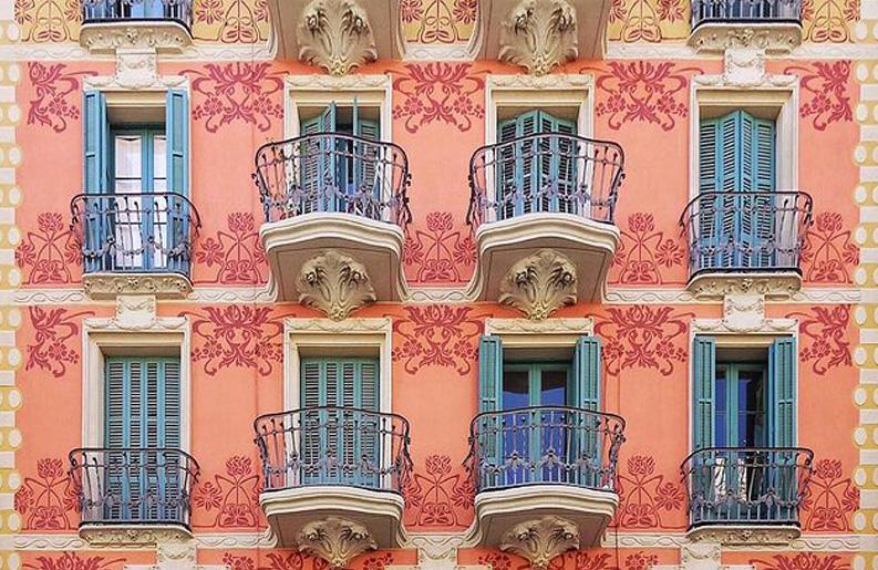 <b>Instagram.</b> Rock Isern nos muestra las fachadas de Barcelona