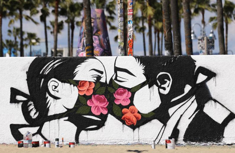 <b>Street art.</b> Los artistas callejeros resisten en tiempos de pandemia